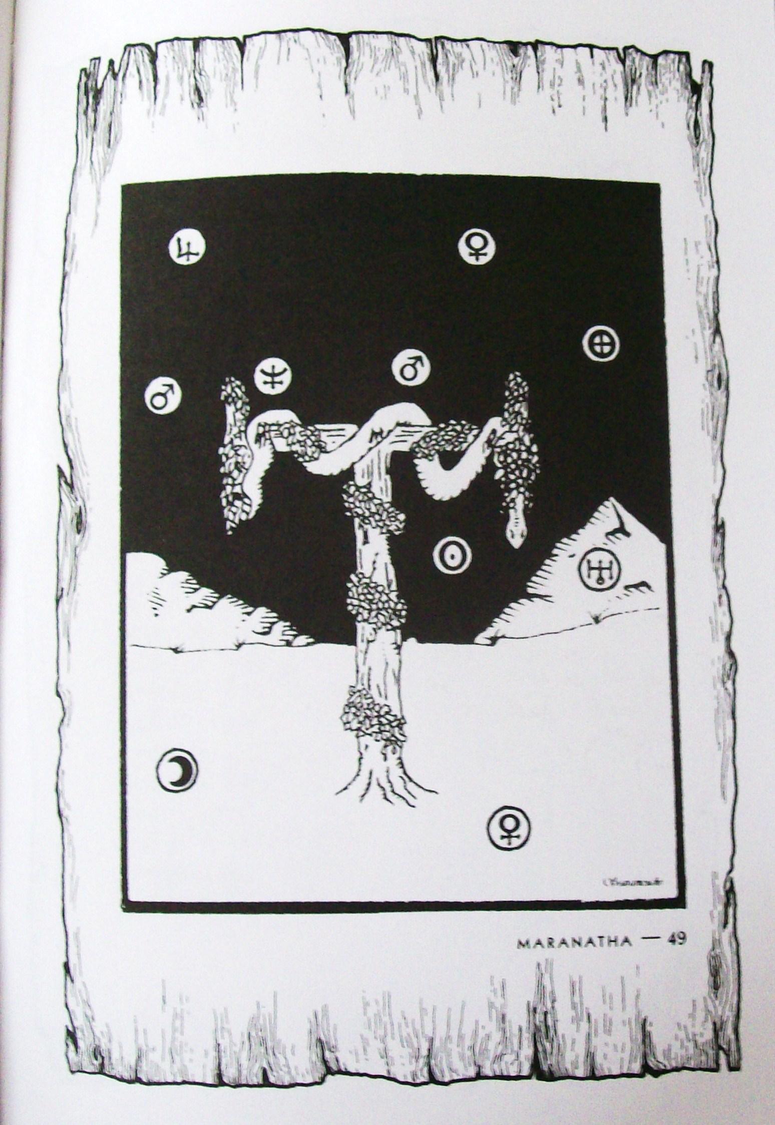 maranatha puzzle et in arcadia ego puzzle image