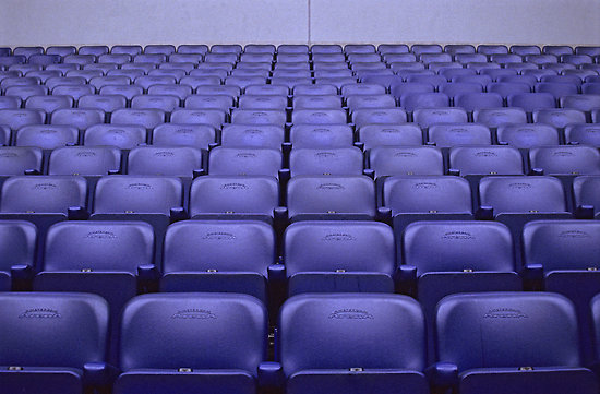 empty spectator chairs