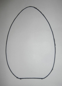 Example outline of an egg