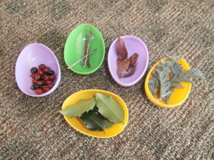 Example of filled eggs with treasures found