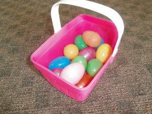 Empty basket of eggs to fill