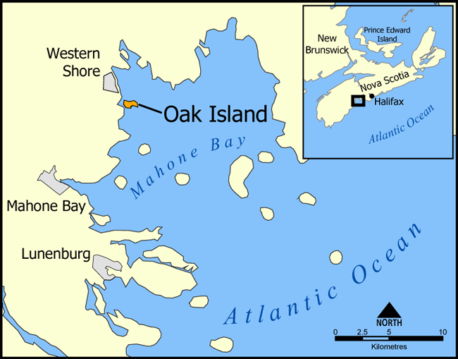 Oak_IslandOak Island. Licensed under CC BY-SA 3.0 via Wikimedia Commons - httpcommons.wikimedia.orgwikiFileOak_Island.png#mediaFileOak_Island.png