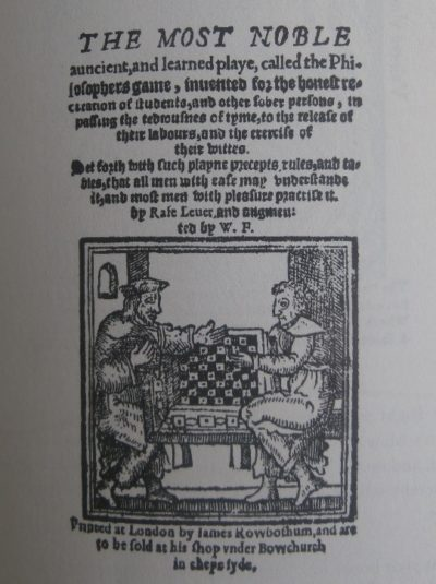 1563 Philosopher's Game Manual Cover