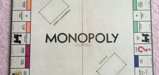 early monopoly board
