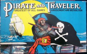 Milton bradley old board game pirate and traveler 1911
