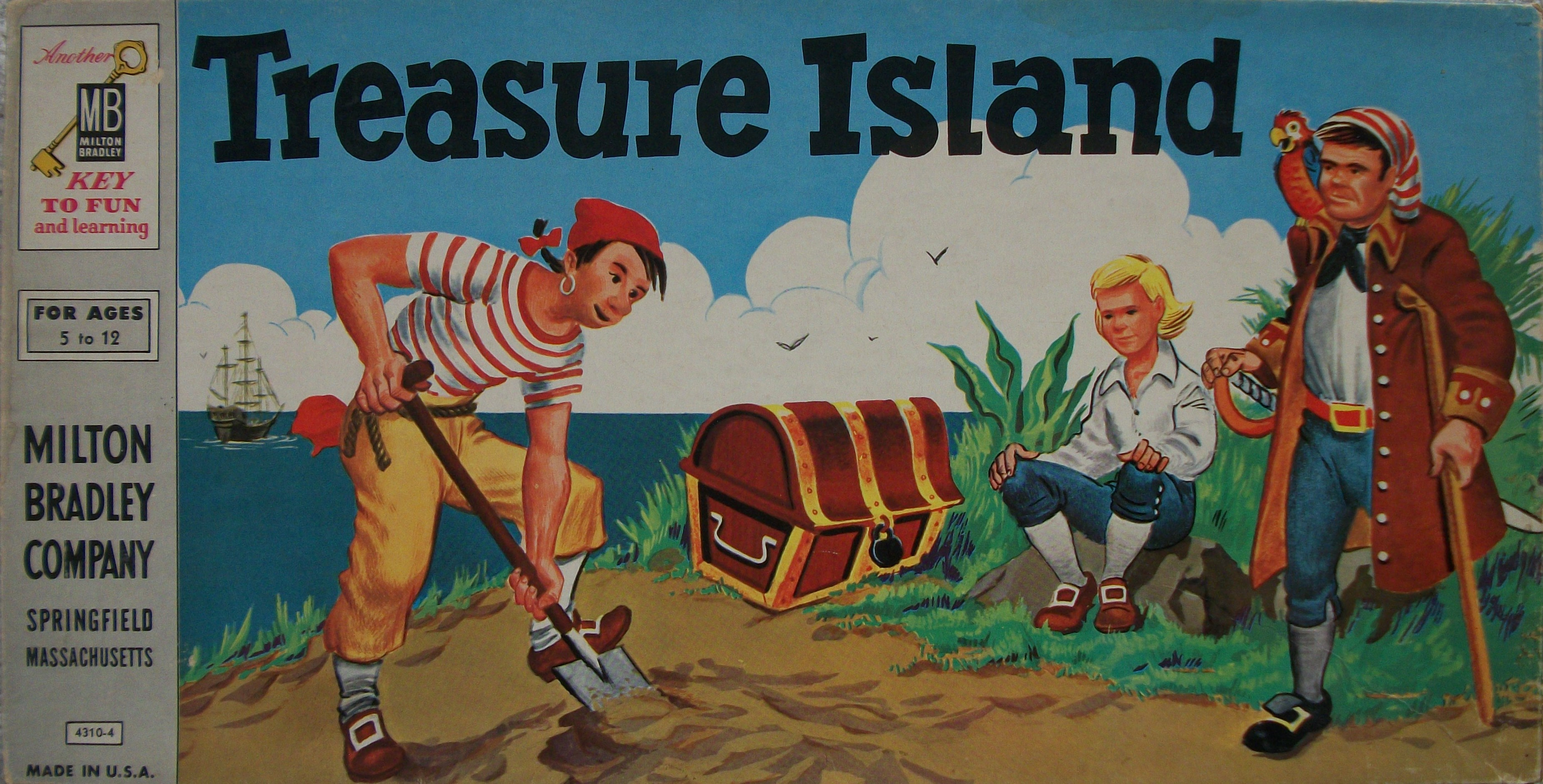 Milton Bradley's Old Board Game of Treasure Island – Mysterious ...