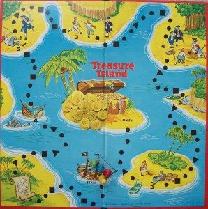 old game board treasure island