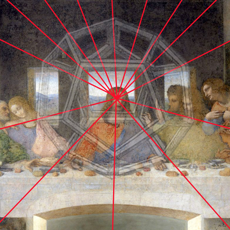 Hidden shape in last supper leonardo da vinci