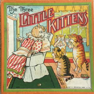 old board game three little kittens 1910 milton bradley