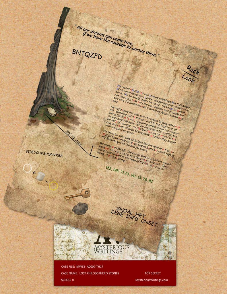 armchair treasure hunt scroll