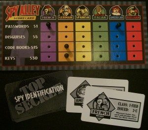 game night ideas from MW spy alley board game