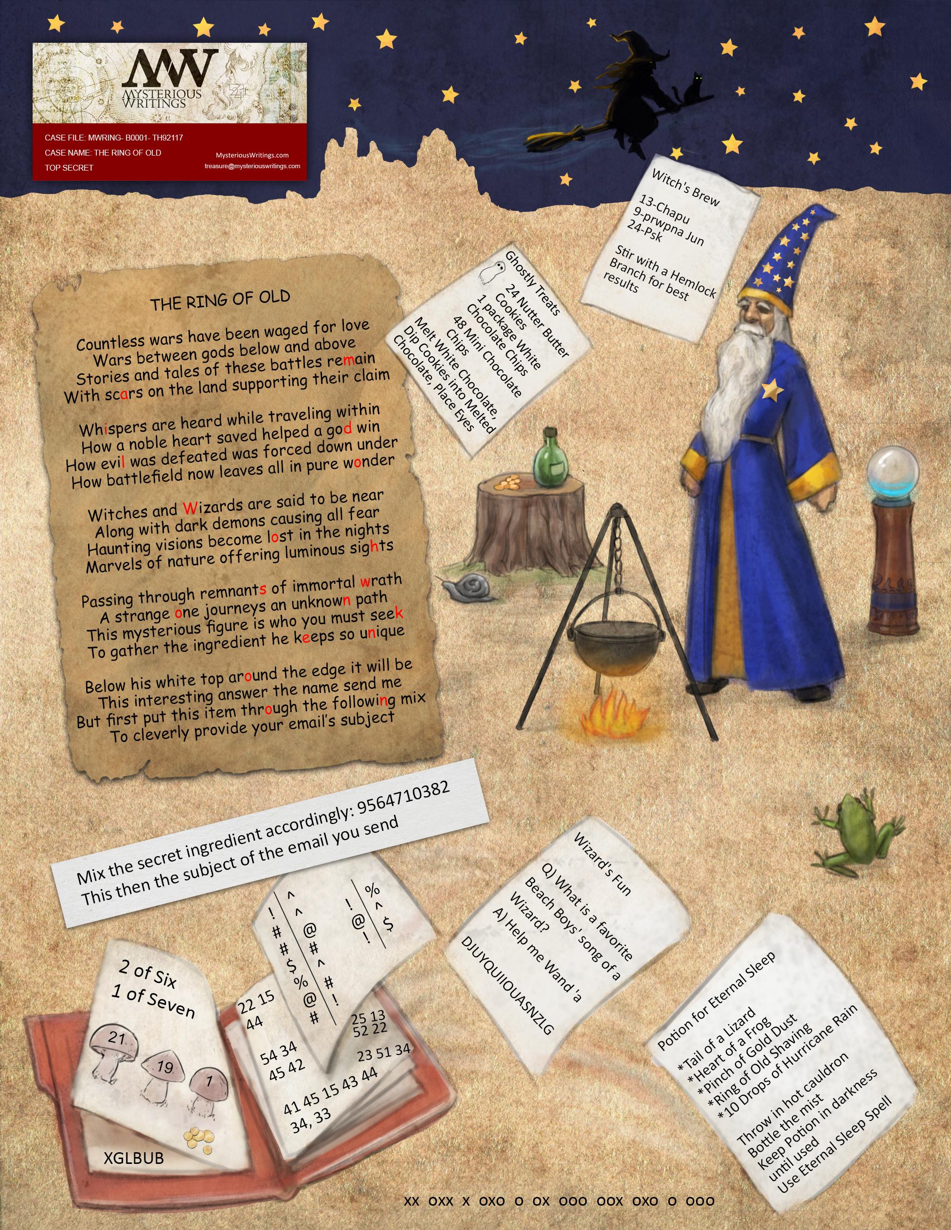 Mw Treasure Hunts Winners Page Mysterious Writings