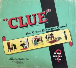 old board game clue 1949