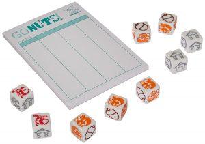 go nuts dice game night idea