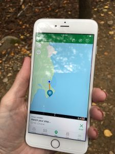 geocache app watch your step find in acadia
