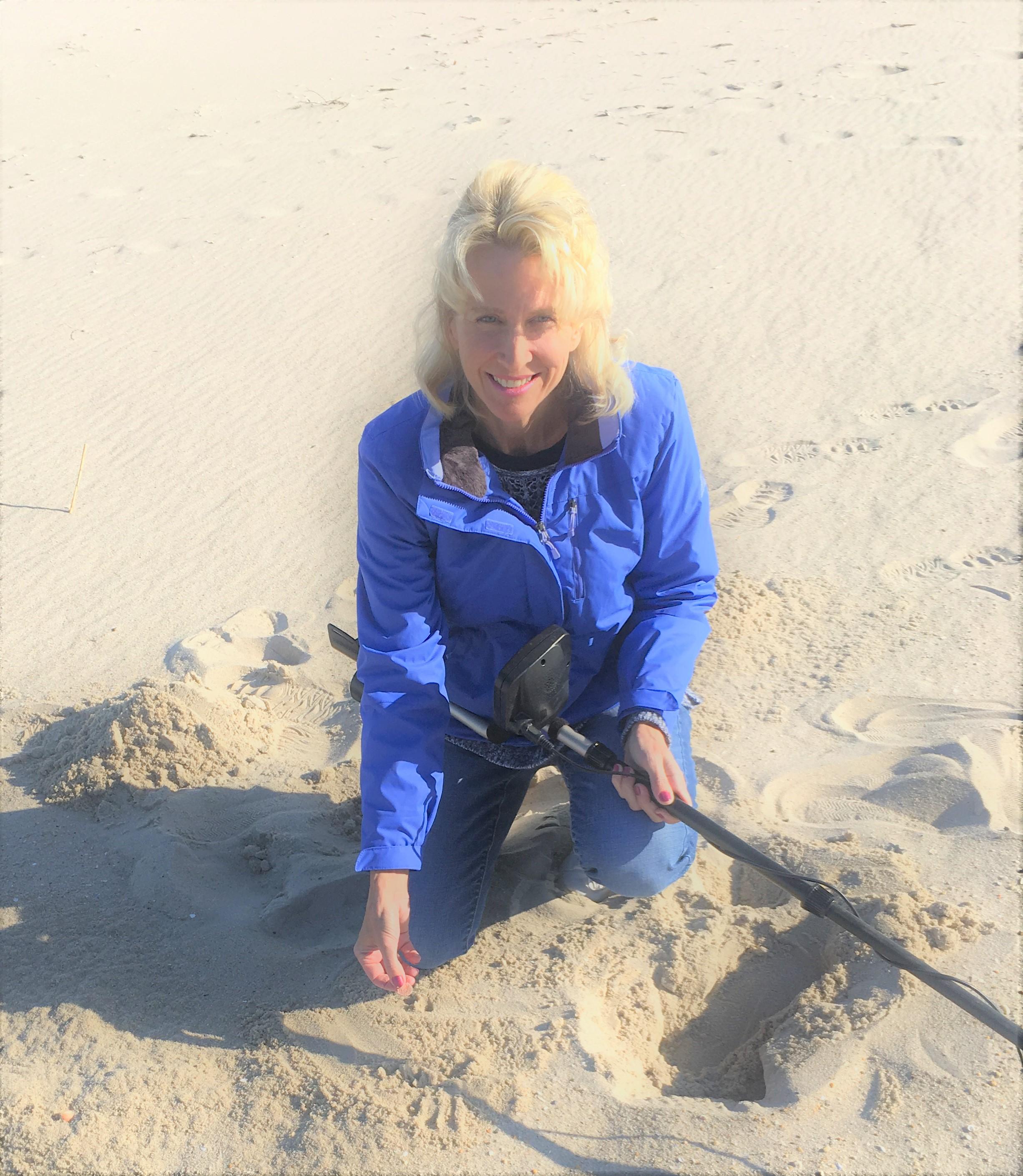 Metal Detecting Coin Beach In Delaware